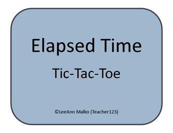 Elapsed Time Tic-Tac-Toe