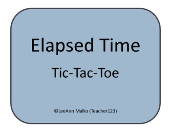 Elapsed Time Tic-Tac-Toe