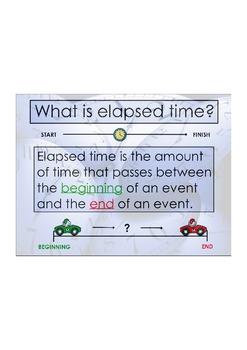 Elapsed Time Tic Tac Toe Steps ActivInspire Flipchart