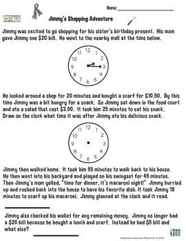 Elapsed Time - Time and Money Activity