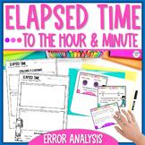 Elapsed Time Task Cards Error Analysis Math