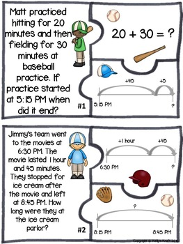Elapsed Time Two-Step Word Problems