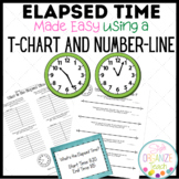 Elapsed Time Using a Number Line and Chart