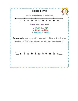 Elapsed Time - Word Problem