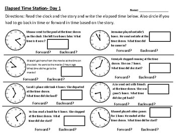 Telling Time Word Problem Worksheets | Teachers Pay Teachers