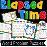 Elapsed Time Word Problem Puzzles