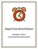 Elapsed Time Word Problem Worksheets 3rd grade