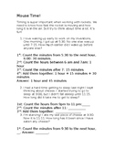 Elapsed Time Word Problems