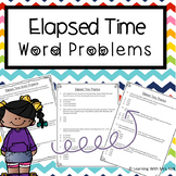 Elapsed Time Word Problems TEKS 3.7C, 4.8C , CCSS 3.MDA.1