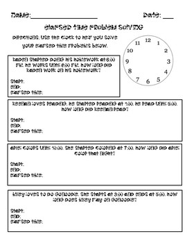 elapsed time word problems by smiles in second grade tpt. Black Bedroom Furniture Sets. Home Design Ideas
