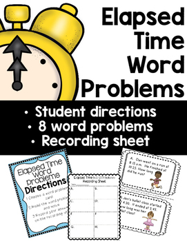 Elapsed Time Word Problems: A Math Center
