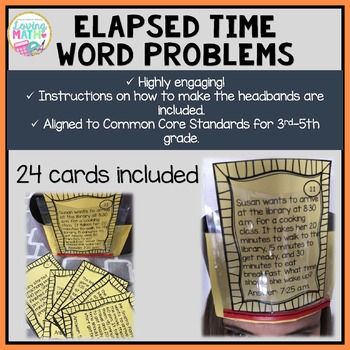 Elapsed Time Word Problems - Headbands Game
