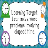 Elapsed Time Word Problems PowerPoint with Elapsed Time Nu
