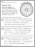 Time - Word Problems - Set 2 - Math - Classroom Pencil Spi