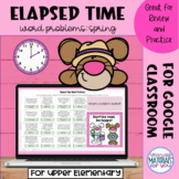 Elapsed Time Word Problems | Spring Mystery Picture