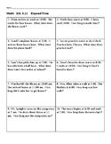 Elapsed Time Word Problems VA SOL 3.9