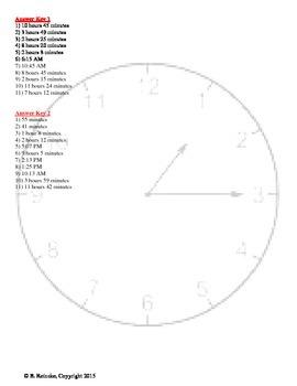 Elapsed Time Word Problems Worksheet