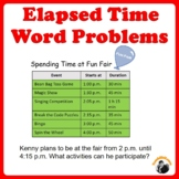 Elapsed Time Word Problems with Addition Subtraction Inter