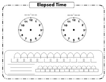 Elapsed Time Workmat and Worksheet