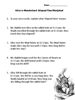 Elapsed time worksheet by alicia donofrio teachers pay teachers elapsed time worksheet ibookread