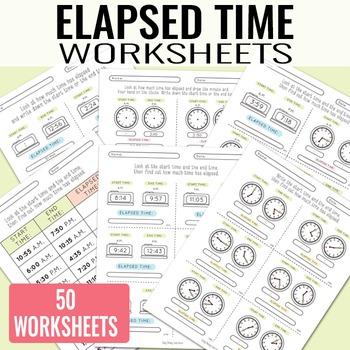 Elapsed Time Worksheets
