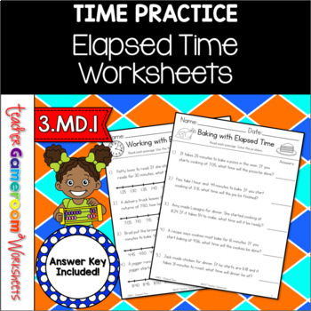 Elapsed time worksheets by teacher gameroom teachers pay teachers elapsed time worksheets ibookread Download