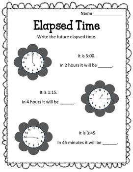 elapsed time worksheets future time word problems clocks tpt. Black Bedroom Furniture Sets. Home Design Ideas