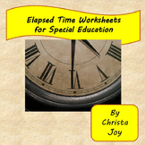 Elapsed Time Worksheets for Special Education