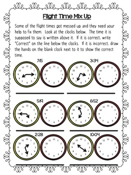 Elapsed Time and Telling Time Project