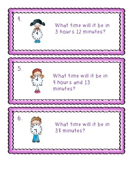 Elapsed Time and Telling Time Task Cards