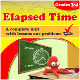 Elapsed Time - grades 3-4, common core (Distance Learning)