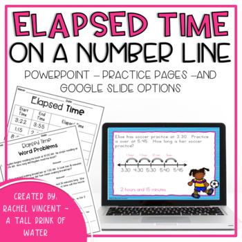 Elapsed Time on a Number Line Presentation