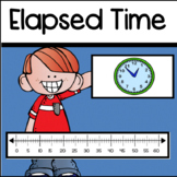 Elapsed Time on a Number Line and Analog Clock: Third Grade