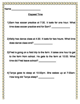 Elapsed Time (time to the hour)