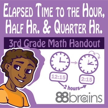 Elapsed Time to the Hour, Half Hour, and Quarter Hour: Unit 7 pgs. 9 - 11 (CCSS)