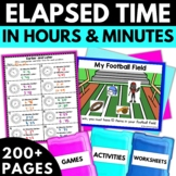 Elapsed Time to the Minute | Elapsed Time Worksheets Activities Games