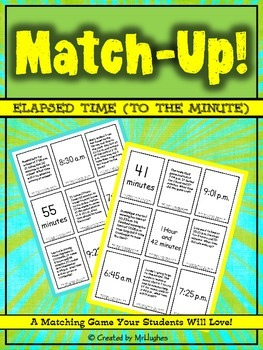 Elapsed Time to the Minute Match-Up!