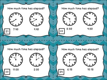 Elapsed Time (to the nearest hour) Activities Bundle