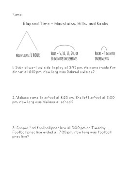 Elapsed Time using Mountains, Hills, and Rocks Strategy