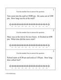 Elapsed Time with Number Line