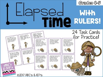 Elapsed Time with Rulers - Quarter Hour