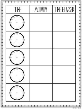 Elapsed Time Activity with Scaredy Squirrel