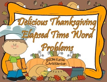 Elapsed Time with Thanksgiving Recipes
