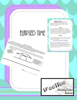 Elapsed time: Using Number Lines