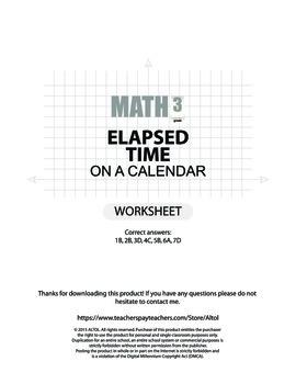 Elapsed time on a Calendar