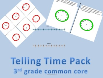 Elapsed time with time to the nearest minute activity pack