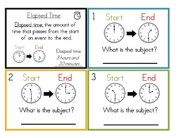 Elasped Time Level 2 Task Cards