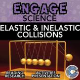 Elastic & Inelastic Collisions - Reading, Slides & Digital Interactive Book INB