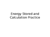 Elastic Potential Energy Calculations Practice