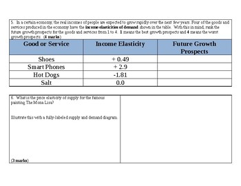 Elasticity Test 1